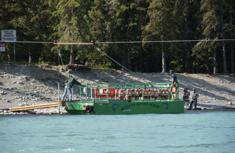 Boat at Gwin's Lodge & Kenai Peninsula Charter Booking Service.