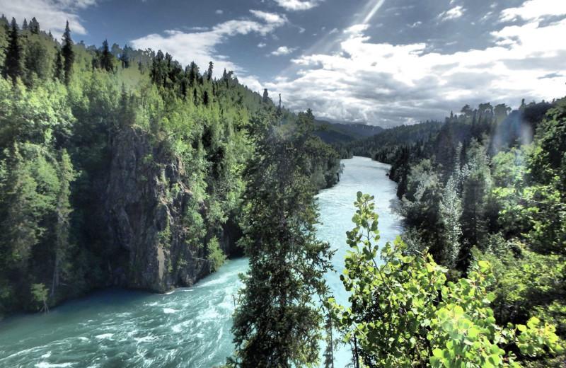 River at Gwin's Lodge & Kenai Peninsula Charter Booking Service.