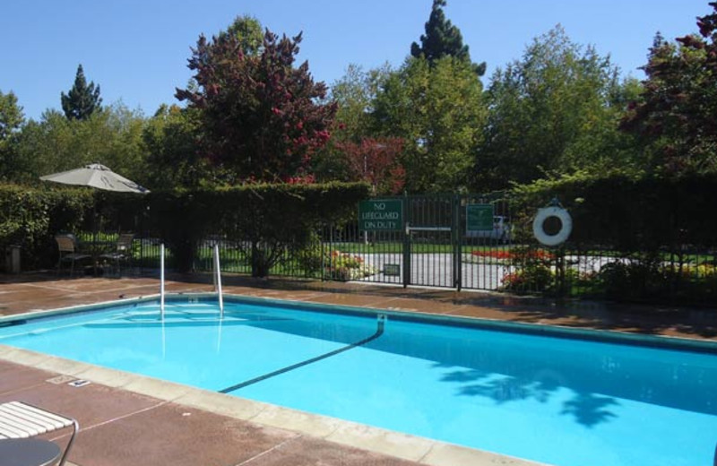 Outdoor pool at TownePlace Suites San Jose Cupertino.