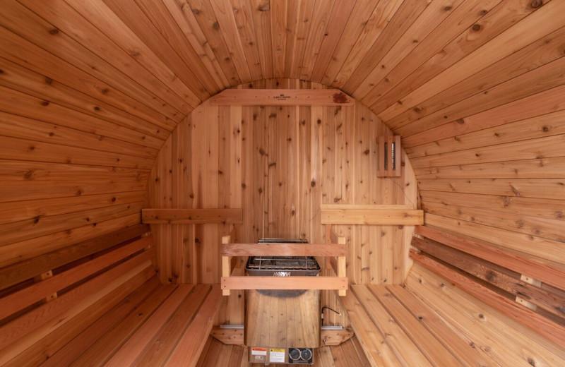 Rental sauna at Railey Vacations.