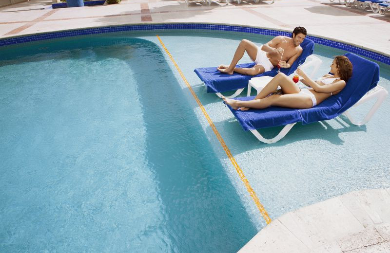 Relaxing Poolside at Barcelo Costa Cancun