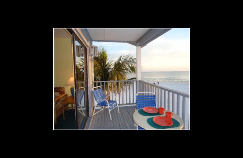 Balcony view at Lahaina Inn Resort.