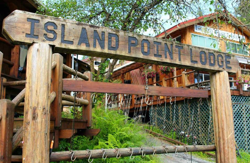 Exterior view of Island Point Lodge.