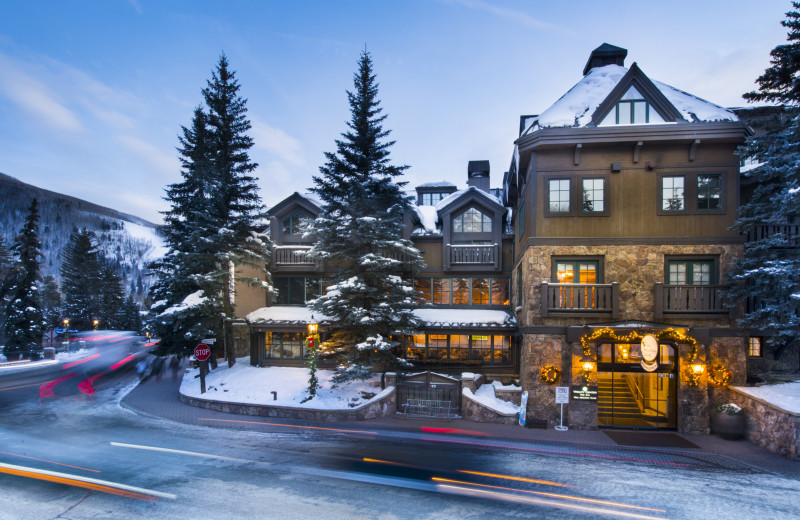 Winter exterior at Vail Mountain Lodge