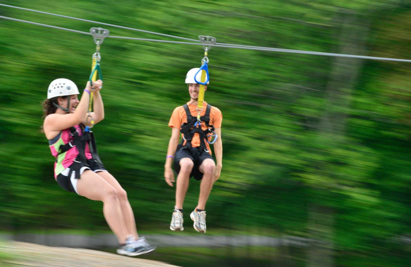Zipline at Woodloch Resort.