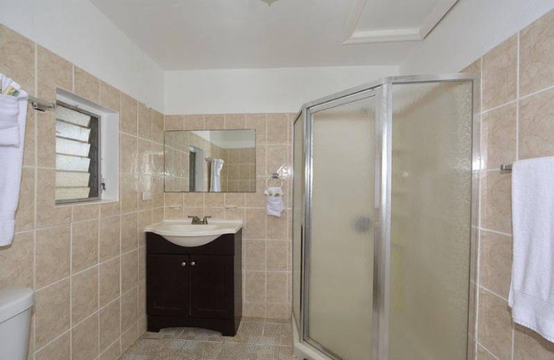 Guest Bathroom at Paradise Cove Resort.