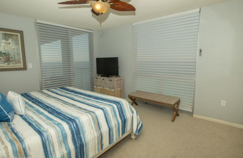 Rental bedroom at Holiday Isle Properties, Inc.