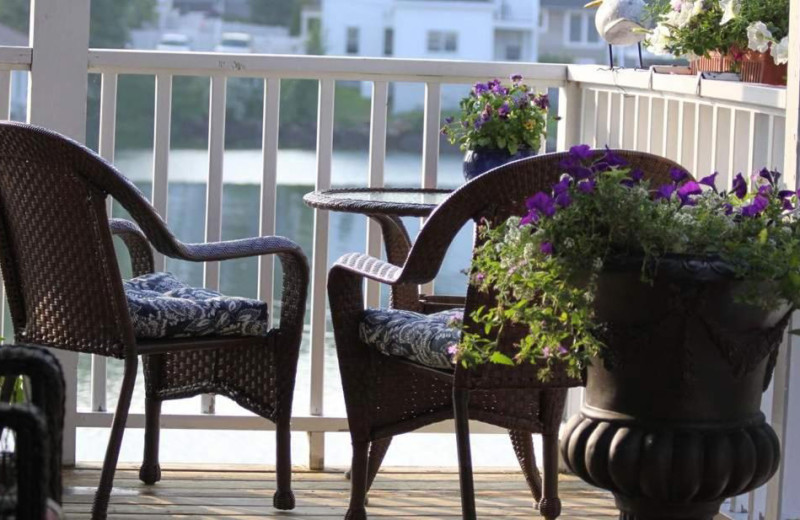 Balcony view at Harbour Towne Inn on the Waterfront.