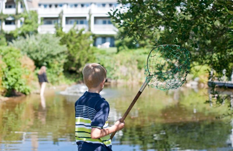 Fishing at Winnetu Oceanside Resort.