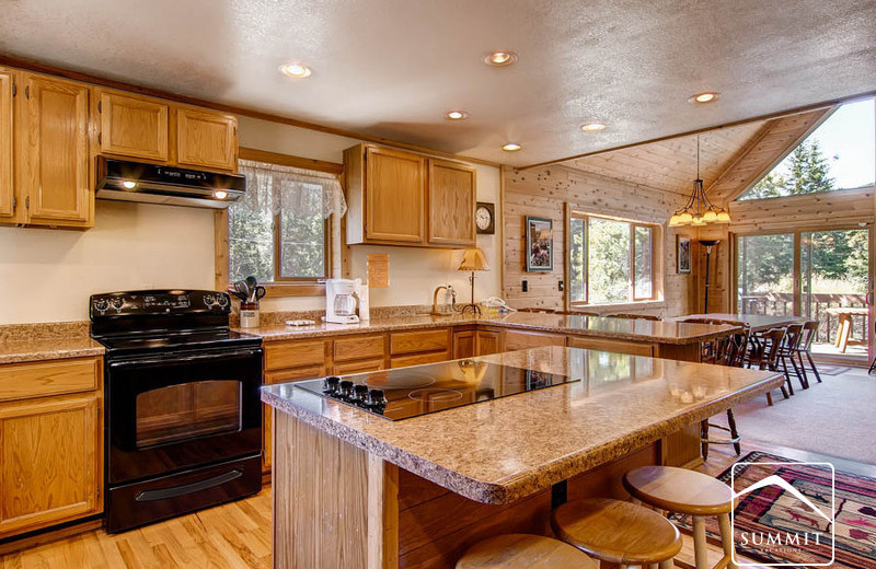Rental kitchen at Summit Vacations.