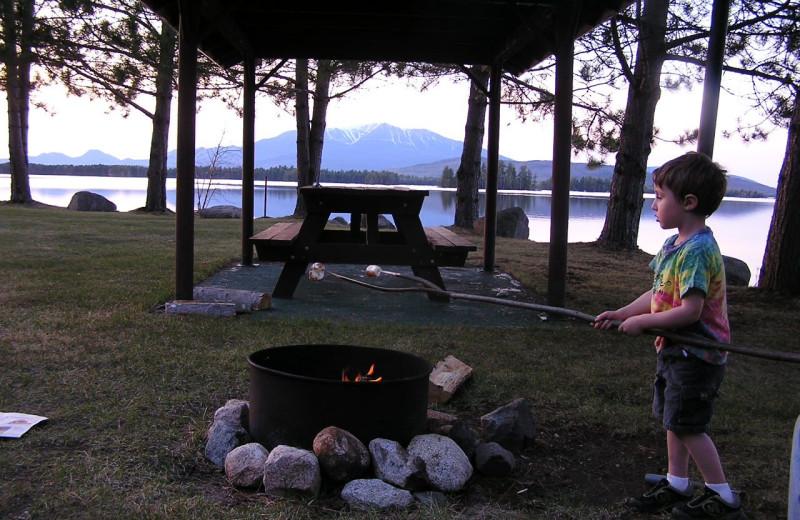 Campfires at New England Outdoor Center.