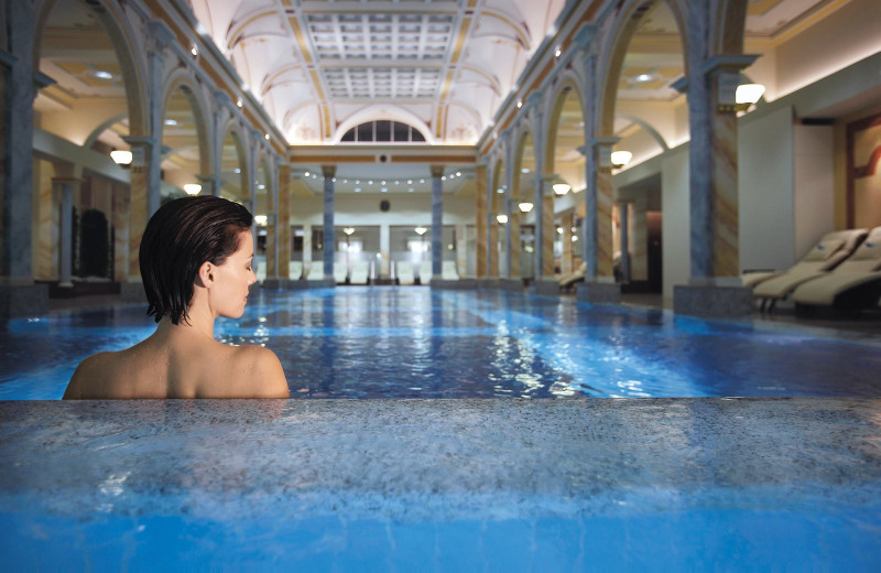 Indoor pool at Grand Hotels Bad Ragaz Switzerland.