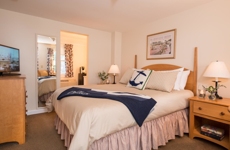 Guest room at The Dunes on the Waterfront.