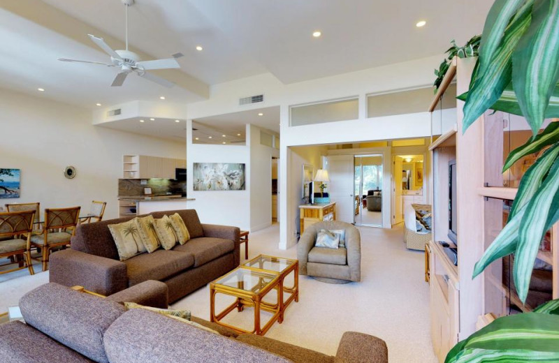 Rental living room at Vacasa Maui.