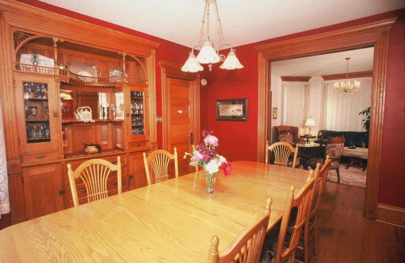 Dining room at Habberstad House B & B.
