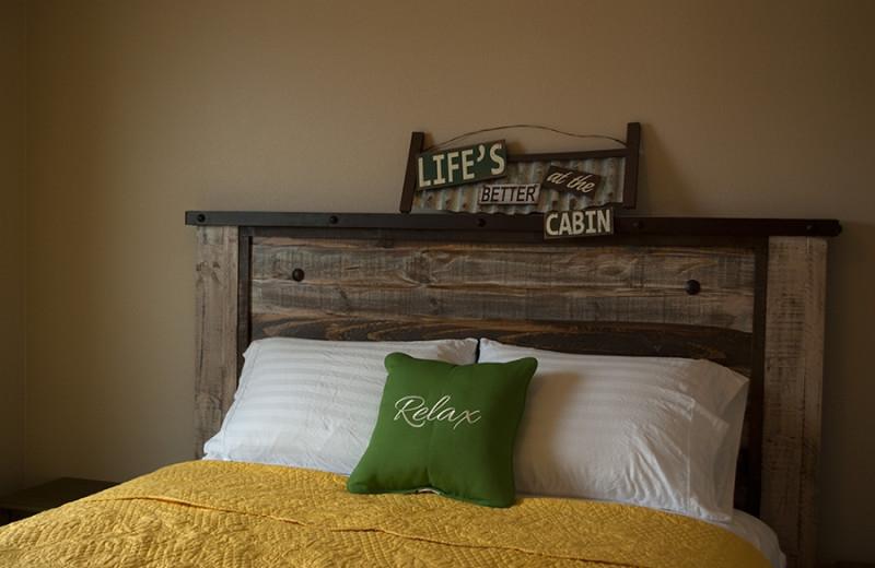 Cabin bed at D'Arbonne Pointe.
