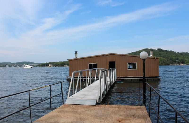 Fish house at Hawks Landing Resort.