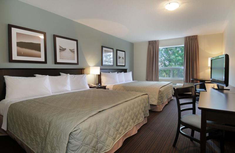 Guest room at Super 8 Peterborough Hotel.