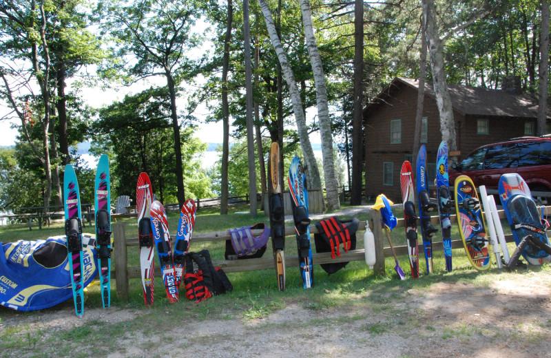 Equipment at Chimney Corners Resort.