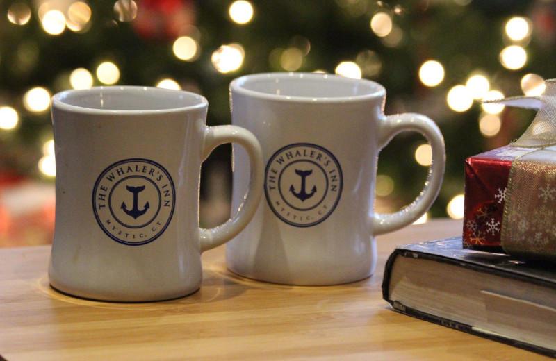 Holiday mugs at Whaler's Inn.