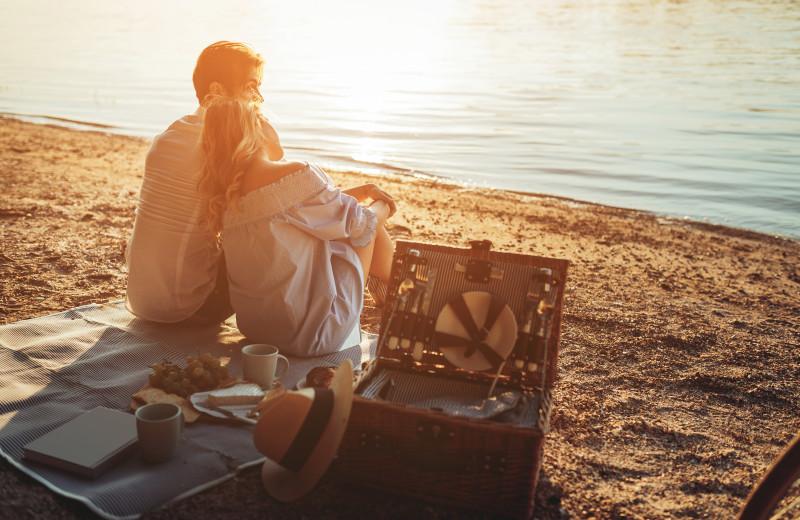Beach picnic at Williamson Realty Vacations.