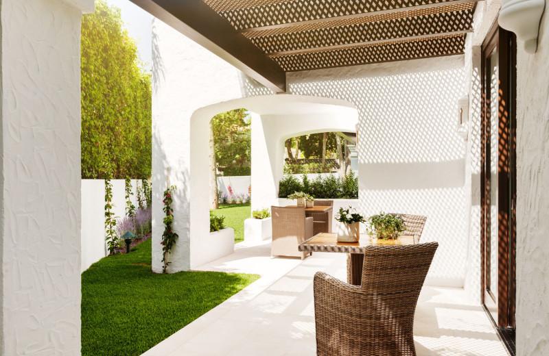 Patio at Marbella Club Hotel, Golf Resort & Spa.