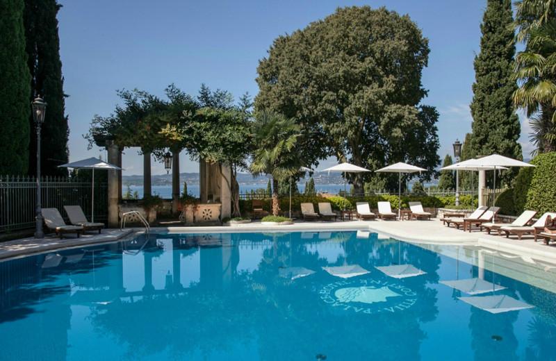 Outdoor pool at Villa Cortine Palace Hotel.