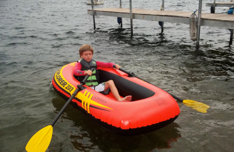 Lake fun at Contessa Resort.