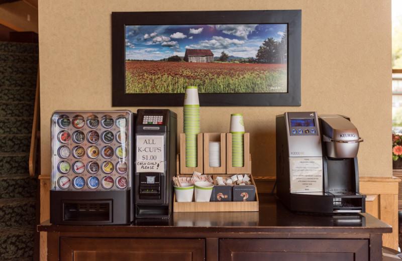 Coffee at Golden Arrow Lakeside Resort.
