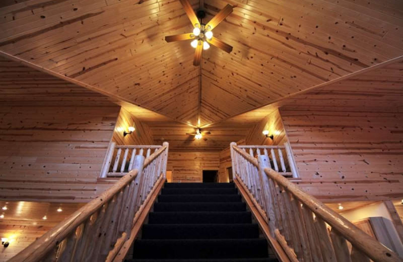 Cabin stairs at Cedar Valley Resort.