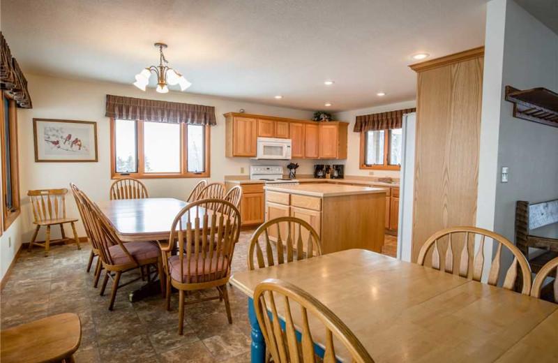 Cabin kitchen at Big Powderhorn Lodging Association.
