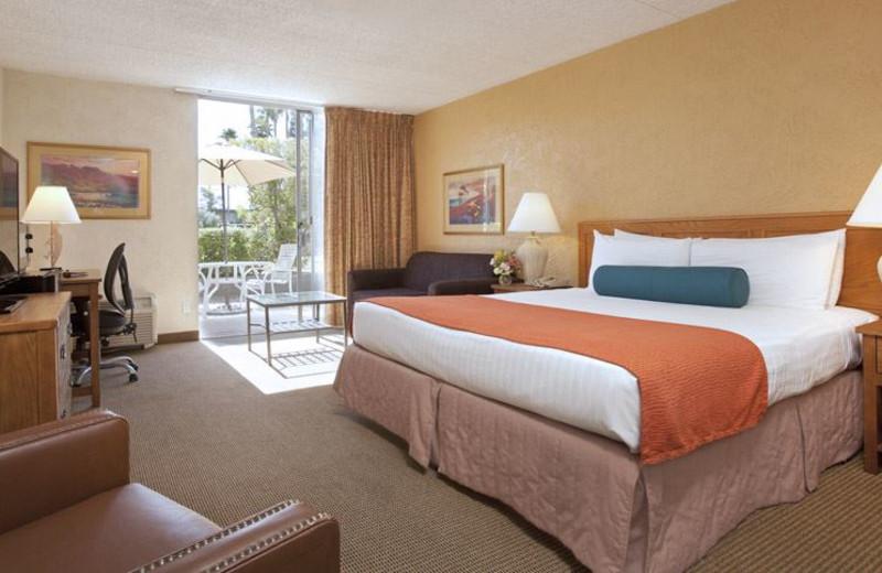 Guest room at Riverpark Inn.