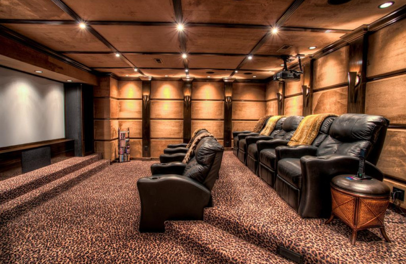 Rental theater at Yonder Luxury Vacation Rentals.