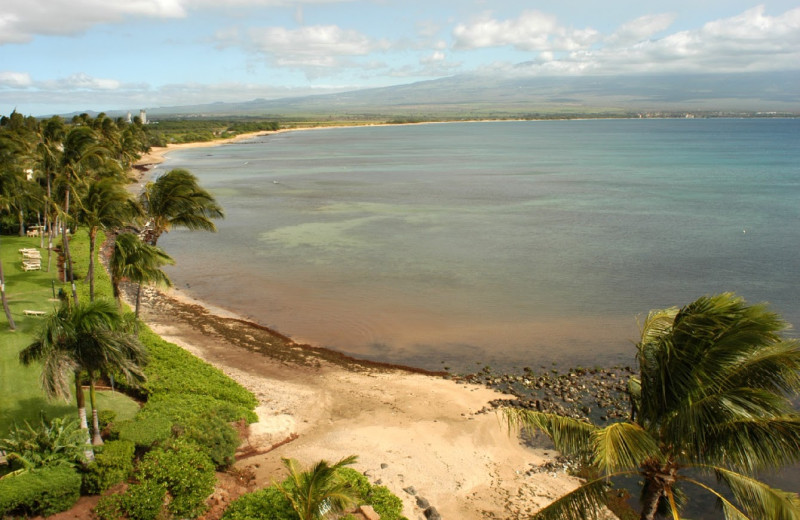 The beach at Island Sands Resort.
