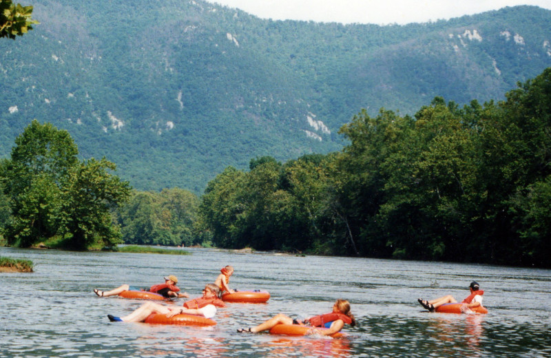 Water tubing at The Alcove at Luray.