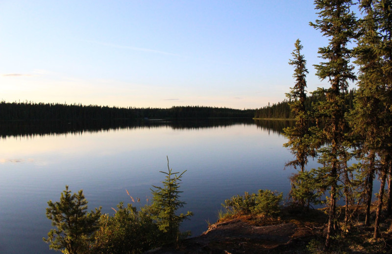 Lake view at Churchill River Canoe Outfitters.