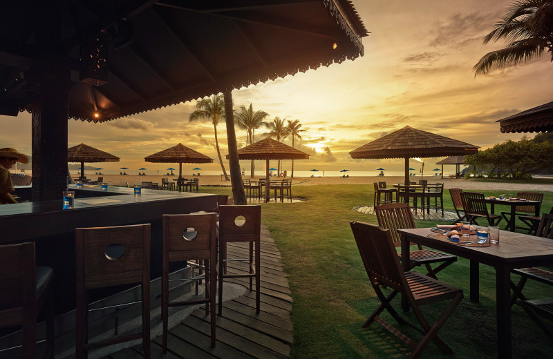 Beach bar at Shangri-La's Rasa Ria Resort.