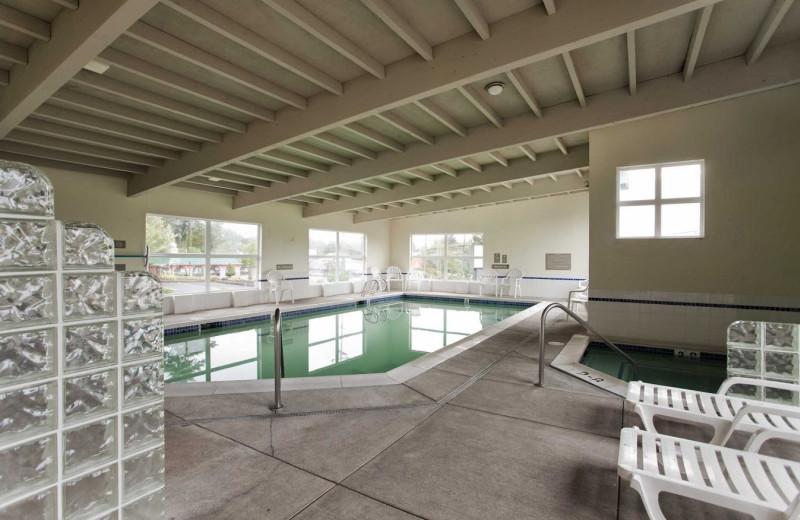 Indoor pool at Inn at Wecoma Lincoln City.