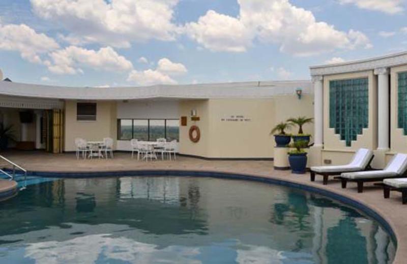 Pool at Meikles Hotel.
