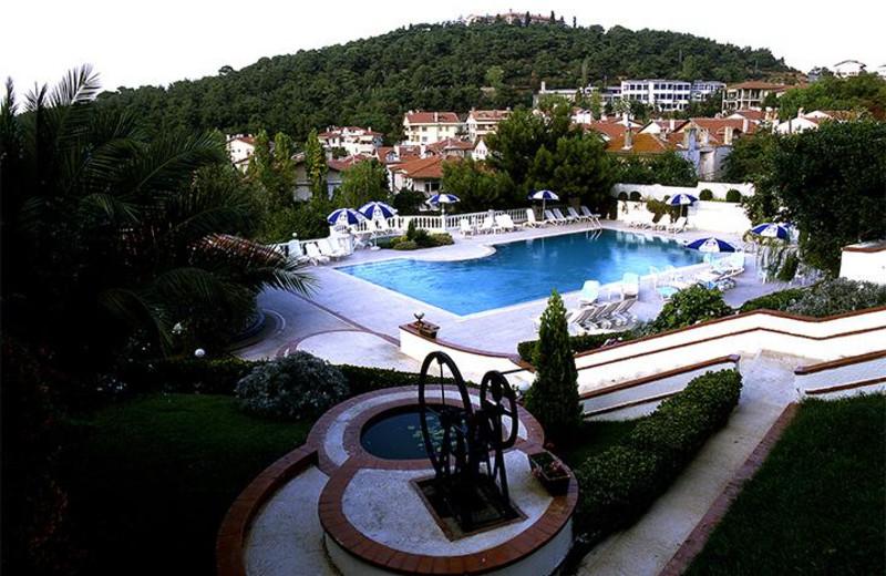 Outdoor pool at Merit Halki Palace.