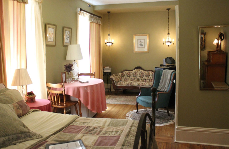 Guest room at Whispering Pines Bed and Breakfast.