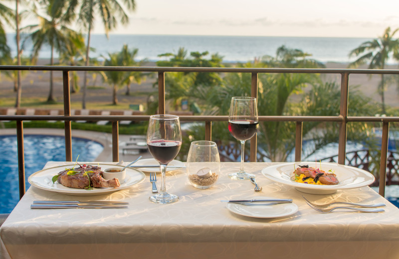 Fine Dining with Ocean Front Sunset at Adacus Restaurant