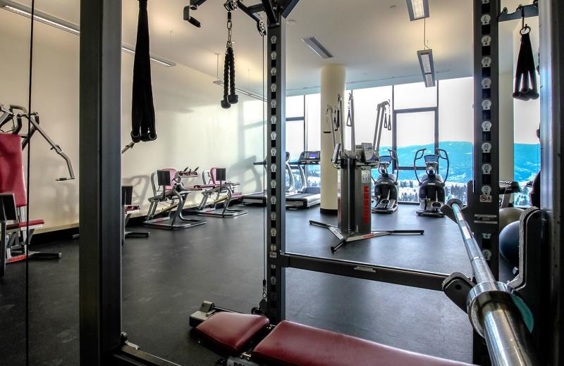Fitness room at Sparkling Hill Resort.
