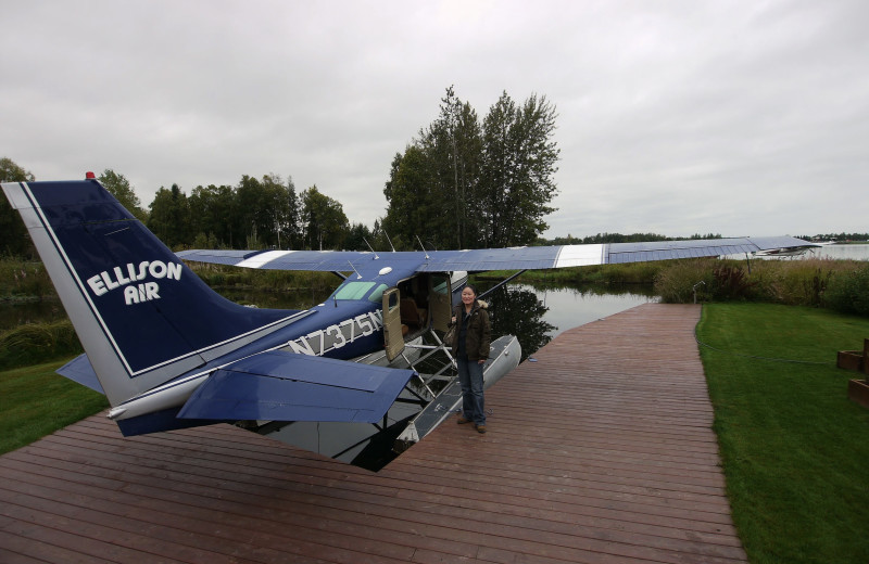 Plane at Gwin's Lodge & Kenai Peninsula Charter Booking Service.