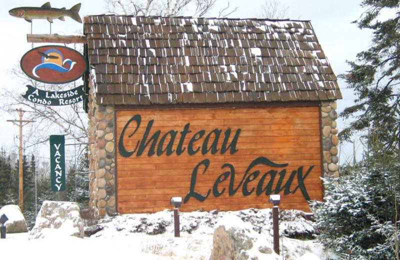 Chateau LeVeaux sign.