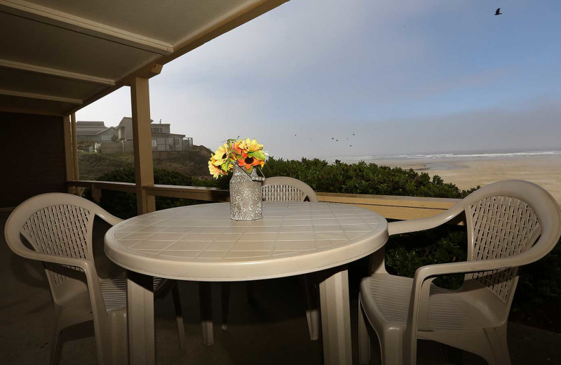 Guest balcony at Driftwood Shores Resort and Conference Center.