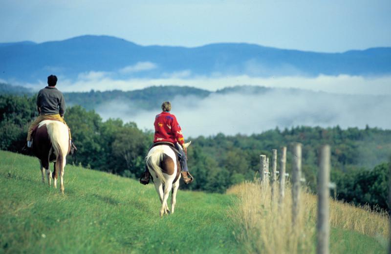 Horseback riding at The Green Mountain Inn.