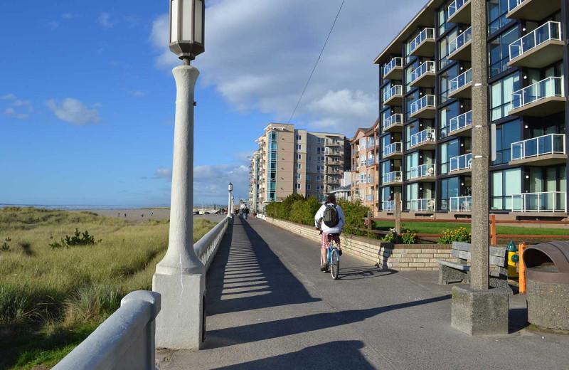Beach walk near Beachhouse Vacation Rentals.