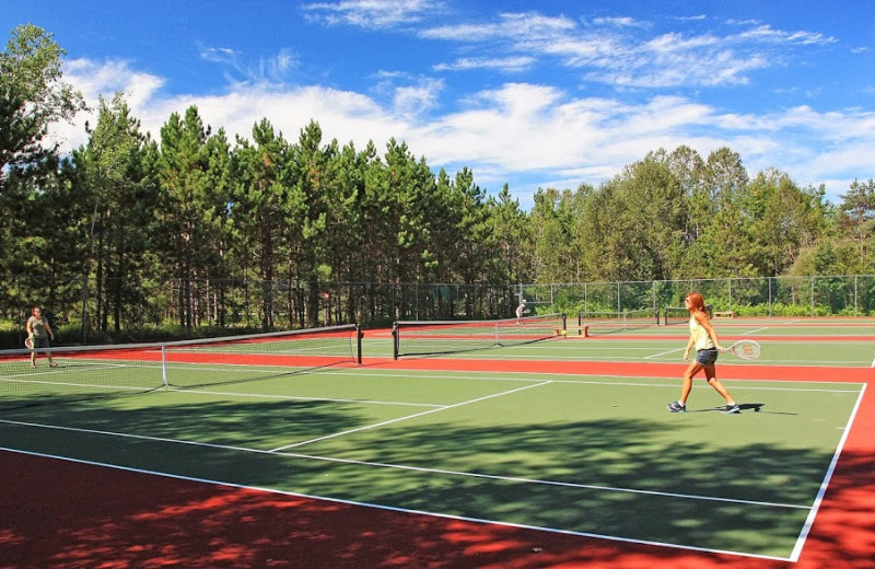 Tennis court at Trout Creek Condominium Resort.