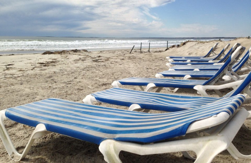 Beach chairs at Ocean Walk Hotel.